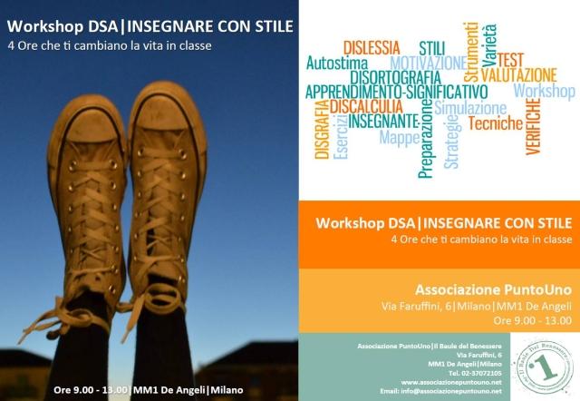 Workshop DSA-Insegnare con stile-Associazione PuntoUno-Generico