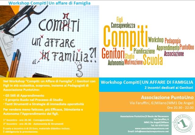 Workshop x Genitori - Compiti - Un Affare di Famiglia - Associazione PuntoUno - Generico