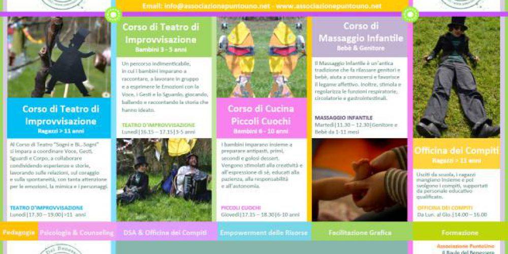 I Corsi di Associazione PuntoUno per il 2015 – Punto di Forza