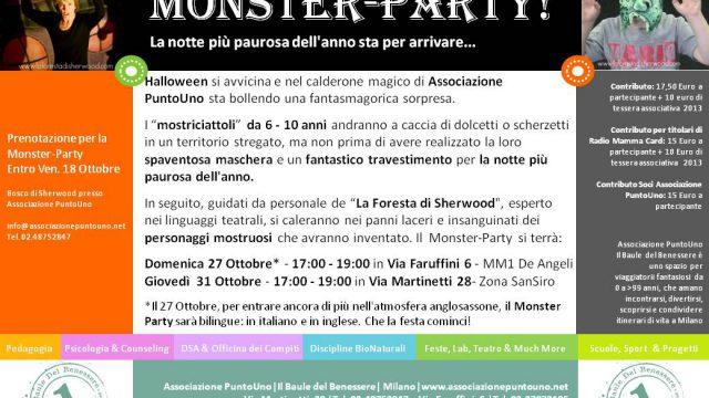 La notte più paurosa dell'anno sta per arrivare… Monster Party!