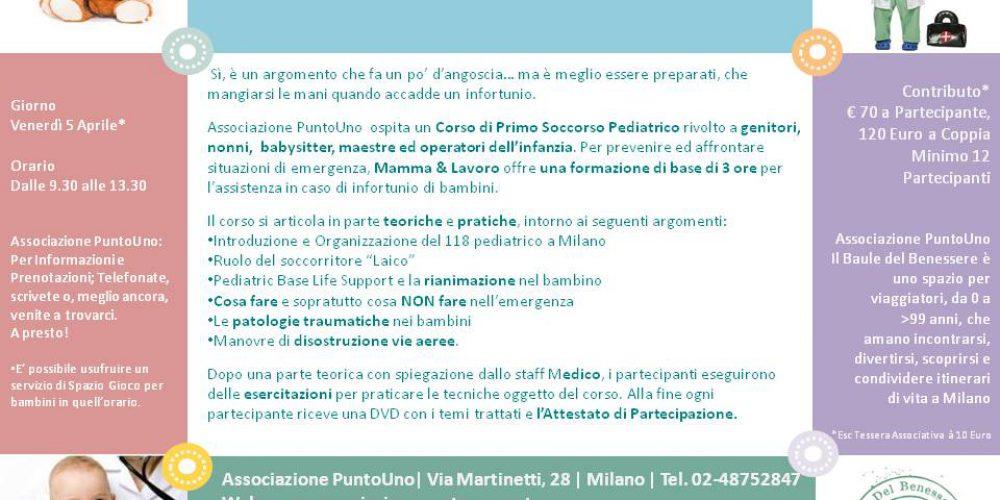5 Aprile: Corso di Primo Soccorso Pediatrico