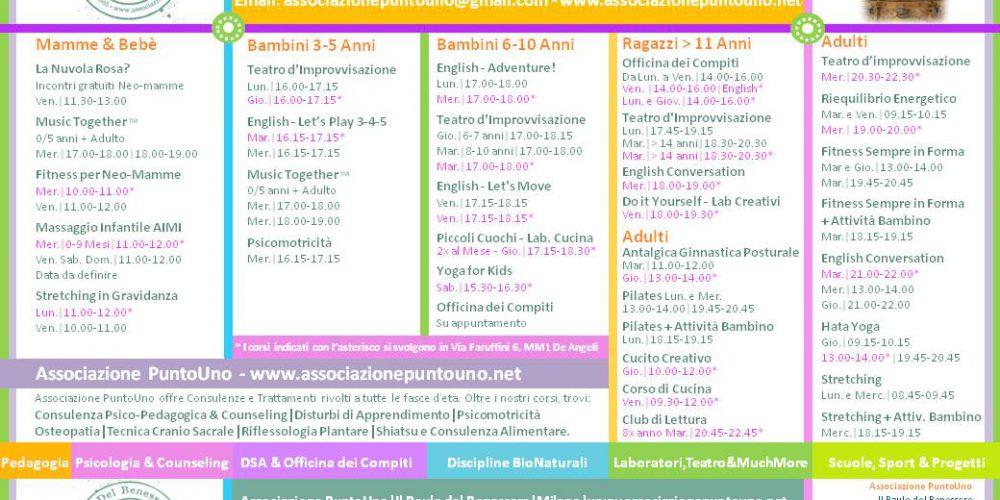 Calendario Corsi, Settimane di Prova e Riduzioni interessanti