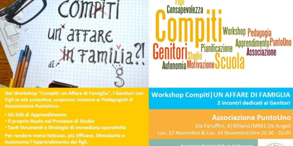 Last Minute! Workshop Compiti per SOS Studio