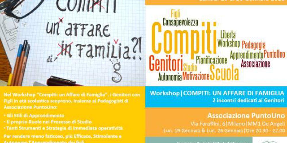 Genitori e Compiti, un Workshop per ritrovare la Serenità in Famiglia e il piacere nello Studio – Punto di Forza