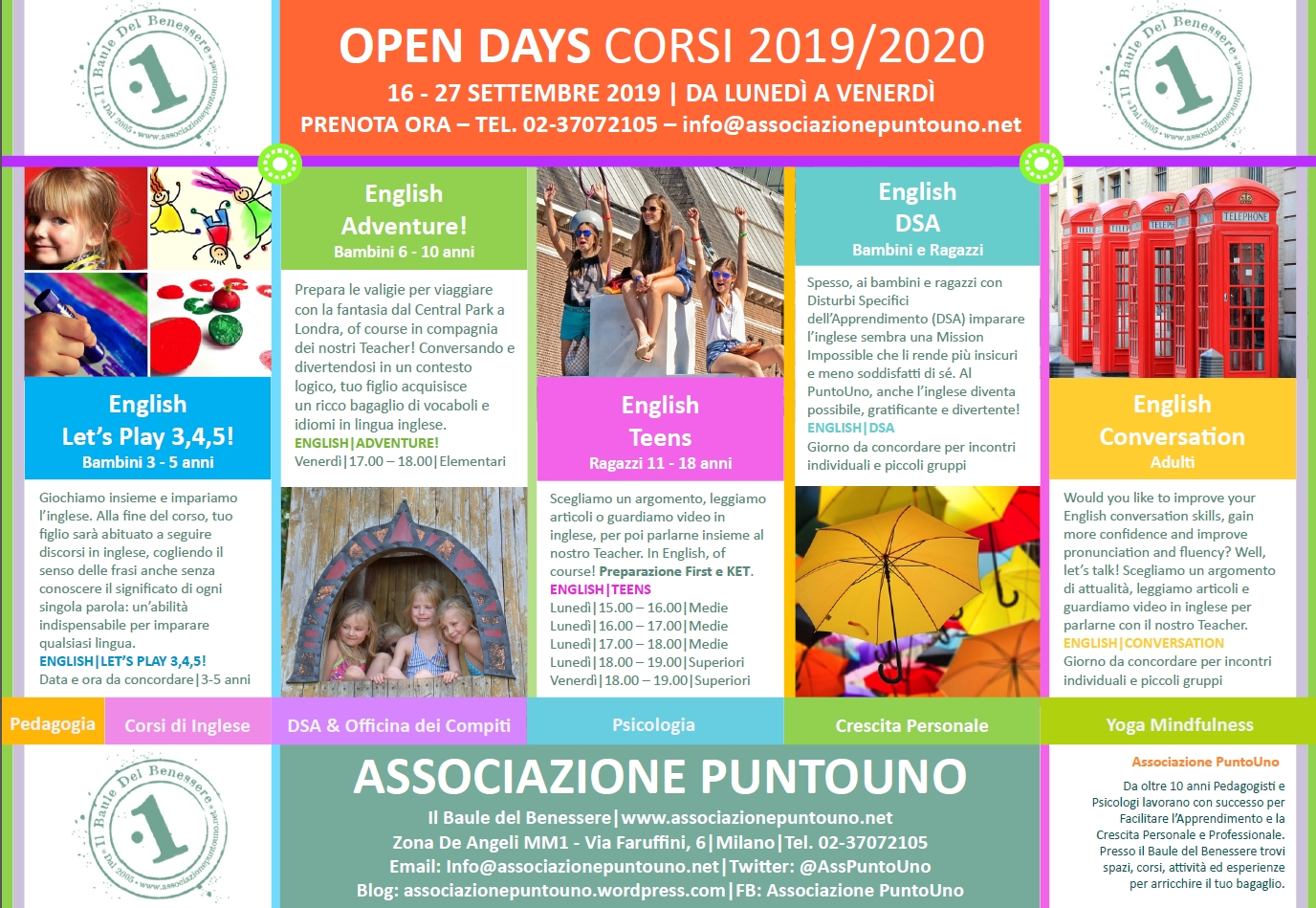 Associazione PuntoUno Tutti i Corsi 2019_2